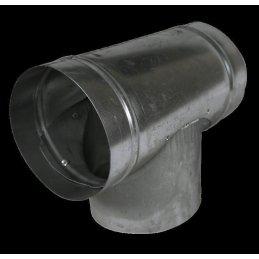 T-Stück,  Ø 160mm, Metall Lüfteranschluss