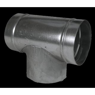 T-piece from metal, Ø 250mm, tube connector