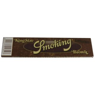 SMOKING Brown, King Size Slim 110 x 44mm 33 Blatt ungebleicht
