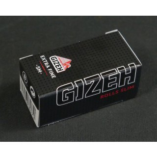 GIZEH Black, Slim Rolle 44mm x  5m extra fine