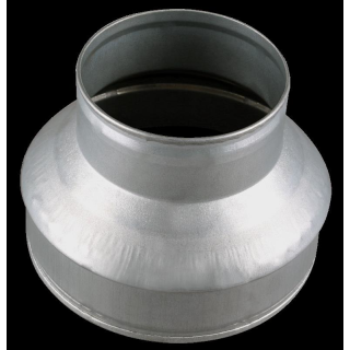 Ducting reducer made of metal, � 10/15cm