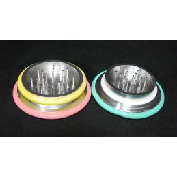 Alu grinder with rubber rings Ø 67mm