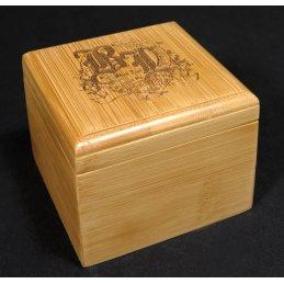 Black Leaf Skull Bamboo storage box