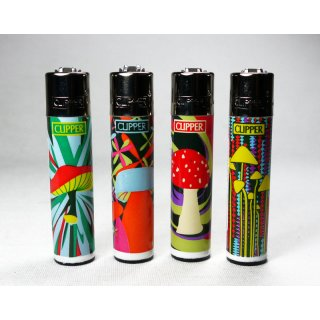 Clipper Shrooms refillable, different motifs