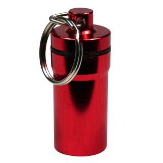 Kräuter-Safe, Schlüsselanhänger aus Aluminium, Ø ca. 2cm, rot