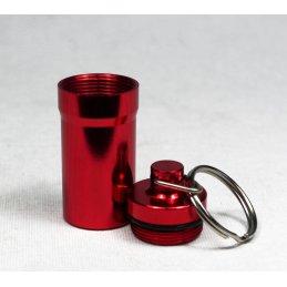 Herb-Safe, keychain made of aluminium, Ø ca. 2cm, red