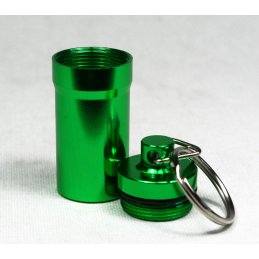 Herb-Safe, keychain made of aluminium, Ø ca. 2cm, green