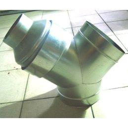 Y-Stück aus Metall, Ø 100/100/100mm