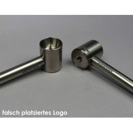 T-Pipe titanium pipe, high-end pipe, length 9cm, B-stock