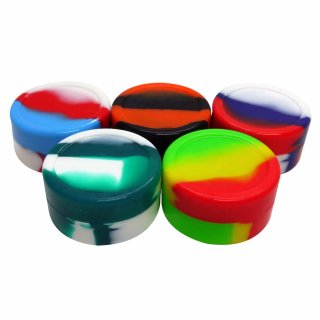 5x UDOPEA Silicone Container 22ml, assorted colors