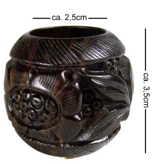 Ebony pipe bowl, carved, height ca. 3,5cm