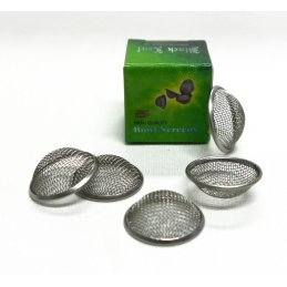 Black Leaf stainless steel Bowl Screens, Ø 20mm 5 pieces