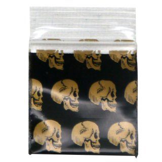 Zip lock bag 25 x 25mm, 50µ, Skull, 100 pieces/package