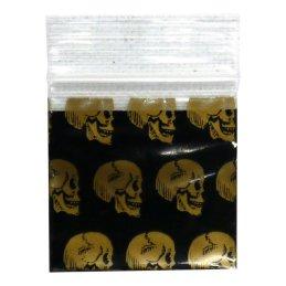 Zip lock bag 50 x 50mm, 50µ, Skull, 100 pieces/package