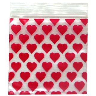 Druckverschlussbeutel 50 x 50mm, 50µ, Heart, 100 Stück/Päckchen