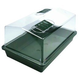 hubey Indoor plant propagator for the propagation of seedlings, with ventilation flaps, 38 x 24 x 17 cm