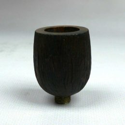 Briar wood bowl, sandblasted, ca. 3.5 cm high