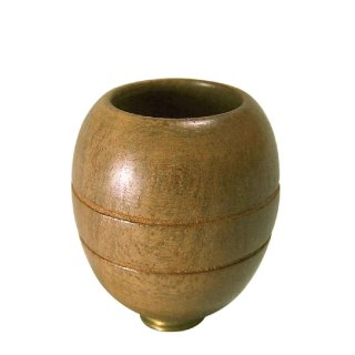 Pipe bowl from bright wood, height approx. 3 cm