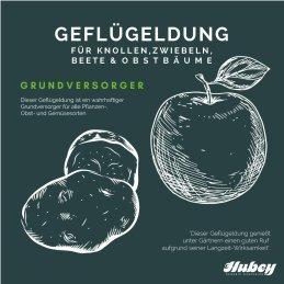 Hubey Geflügeldung 2 Kilo biologischer Naturdünger Universaldünger und Bodenverbesserer
