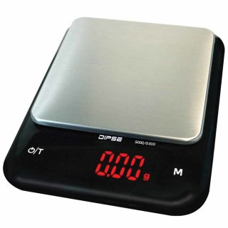 DIPSE AS battery powered table scale 500g x 0,01g, incl. scale pan