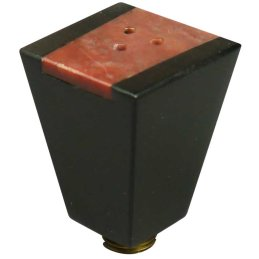 Ebony pipe bowl Pyramid with soapstone lid, height ca....