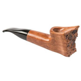 hubey Freehand Pipe made of briar wood with ebonite mouthpiece, length 11,7cm