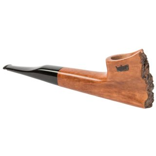 hubey Freehand Pipe made of briar wood with ebonite mouthpiece, length 15cm