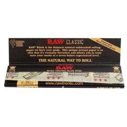 RAW Classic black, King Size Slim 108 x 44mm 32 Blatt ungebleicht