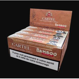 CARTEL Extra Long BAMBOO 13cm unbleached Papers inklusive Filter Tips