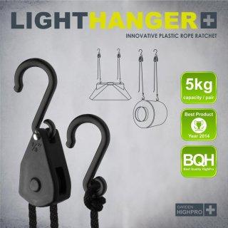GHP Garden Highpro Lighthanger Lampenaufhänger mit Kunststoffhaken 1Paar  bis 5kg
