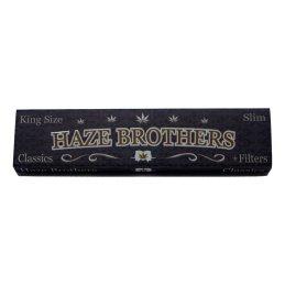 Haze Brothers King Size Slim 33 Blättchen und 33 Filtertips