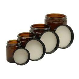 UDOPEA Apothekerglas 60ml geruchsdichter Braunglastiegel