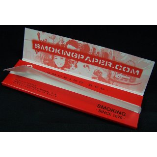 SMOKING King Size Red, 33 sheets 108 x 53mm