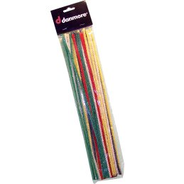 Pipe cleaners colored, length 31cm, packing with 25 pieces